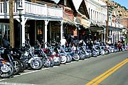Motorbike Posters - Street Vibrations in Virginia City Nevada Poster by Brad Scott