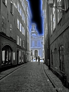 Stockholm Digital Art - Street walking by Eva Ason