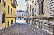 Old Door Photos - Street with houses by Mats Silvan