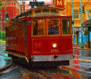 Tram Photo Posters - Streetcar in Memphis Poster by Don Wolf