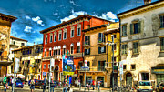 Life In Italy Framed Prints - Streetlife In Verona Framed Print by Jon Berghoff