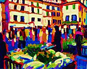 Streetscape Paintings - Streetmarket by Brian Simons