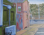 Asphalt Paintings - Streets 2 by Lowen Hardy
