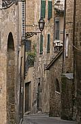 Narrow Streets Prints - Streets of Assisi Print by Lynn Andrews