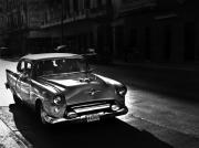 Black And White Photography Mixed Media - Streets of Cuba 1 by Artecco Fine Art Photography - Photograph by Nadja Drieling