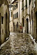 Bistro Framed Prints - Streets of Florenze 2 Framed Print by Greg Sharpe