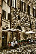 Bistro Framed Prints - Streets of Florenze Framed Print by Greg Sharpe