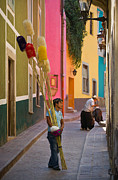 Verticals Prints - Streets of Guanajuato Print by Craig Lovell
