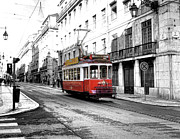 Caboose Framed Prints - Streets of Lisbon Framed Print by Alex Hardie