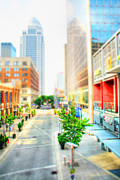 Tilt Shift Framed Prints - Streets of Louisville Framed Print by Darren Fisher
