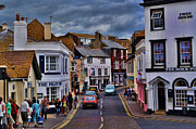 Andrea Everhard Prints - Streets of Lyme Regis Print by Andrea Everhard