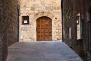 Italian Cypress Photo Acrylic Prints - Streets of San Gimignano Acrylic Print by Andre Goncalves