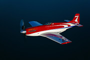 Vintage Air Planes Photos - Strega, A Highly Modified P-51d Mustang by Scott Germain