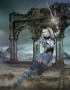 Ruin Digital Art - Strength and Honor by Karen Koski