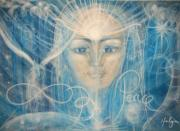 Visionary Art Painting Prints - Strength and Peace Print by Helga Sigurdardottir