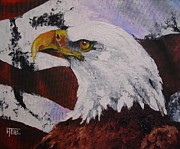 Patriotic Painting Originals - Strength by Harold Teel