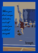 Sports Digital Art Metal Prints - Strength Metal Print by Peter  McIntosh