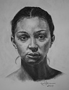 African-american Drawings - Strength by Rachel Hames
