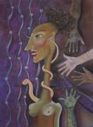 Surrealism Pastels - Stretched Thin by Tracey Levine