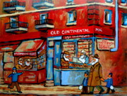Montreal Street Life Paintings - Strictly Kosher by Carole Spandau