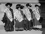 National League Prints - Strike Pickets From Ladies Tailors Print by Everett