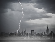 Lightning Storms Prints - Strike Print by Susan Candelario