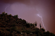 Lightning Photography Metal Prints - Strike Two Metal Print by Anthony Citro