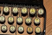 Typewriter Keys Photos - Striking the Right Key by Carl Purcell