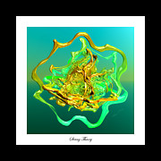 Fractal Galaxies Framed Prints - String Theory D Framed Print by Betsy A Cutler East Coast Barrier Islands