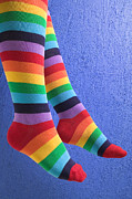 Legs Photos - Striped socks by Garry Gay