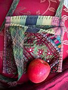 Embroidered Tapestries - Textiles - Striped Tie  Mirrored Nomadic Bag by Krisha Fairchild
