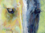 Equine Paintings - Stripes by Kimberly Santini