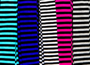Pink Art - Stripey Tubes by Andy Smy