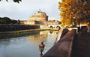 European Union Prints - Stroll Along the Tiber Print by George Oze
