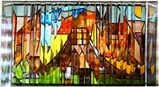 Cityscape Glass Art - Stroll Thru A Virtual City by Howard Mendelson
