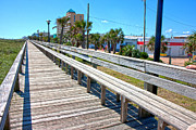 Pleasure Photo Prints - Strolling Along Print by Betsy A Cutler East Coast Barrier Islands