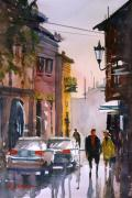 Greece Painting Originals - Strolling in Greece by Ryan Radke