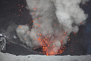 Outburst Prints - Strombolian Eruption From Vent Print by Richard Roscoe