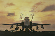 F-18 Paintings - Strong Arm of Freedom by Darryl Strader