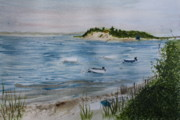Cape Cod Paintings - Strong Island by Donna Walsh