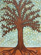 Folk  Paintings - Strong Roots by Rain Ririn