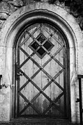 Old Krakow Framed Prints - Strong Wooden Metal Braced Fortified Door For Strength In Wawel Castle Krakow Framed Print by Joe Fox