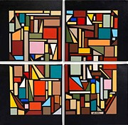Modernism Painting Framed Prints - Structured Chaos Framed Print by John Chehak