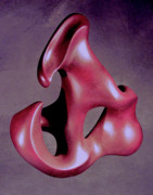 Curves Sculptures - Structured Flame by Lonnie Tapia