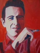 The Clash Prints - Strummer Print by Natasha Laurence