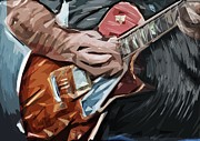 Strumming Prints - Strummer Print by Tilly Williams