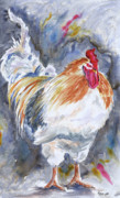 Cock Framed Prints - Struttin His Stuff Framed Print by Marsha Elliott
