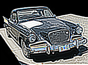 Samuel Sheats Prints - Studebaker Golden Hawk 1 Print by Samuel Sheats