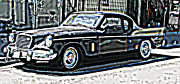 Samuel Sheats Prints - Studebaker Golden Hawk 2 Print by Samuel Sheats