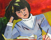 Homework Paintings - Student by Betty Pieper